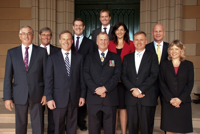 New Cabinet with Govenor. Photo attributed to Geoff Harrisson