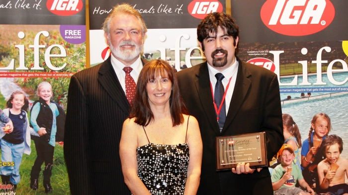 IGA Everyday Retailer of the Year - IGA Everyday Norwood Mark, Leanne and Daniel Colson