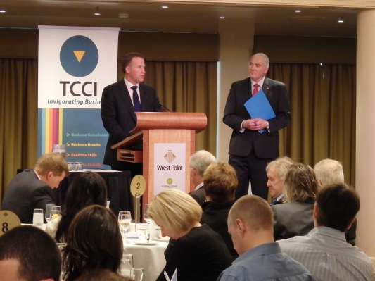 Premier Will Hodgman and TCCI CEO Michael Bailey