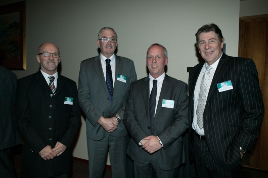 Mayor Mike Gaffney MLC, Hon Rene Hidding MP, Tony Cook, Tasmanian CEO and Robert Row National CEO of Civil Contractors Federation