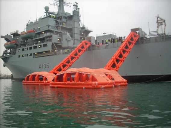 Military Application of Liferaft System Australia's products.