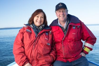Peter and Frances Bender of Huon Aquaculture