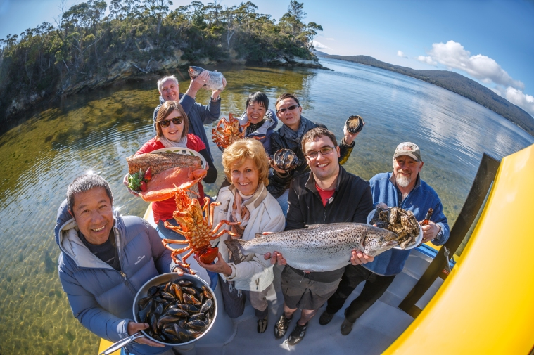 Quality Tasmanian seafood and dedicated producers. Photo by Peter Aitchison