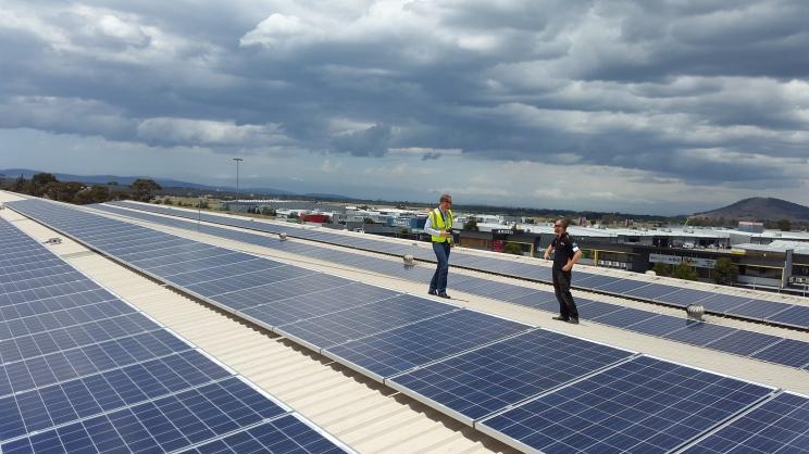 Solar panels at Winemaking Tasmania.