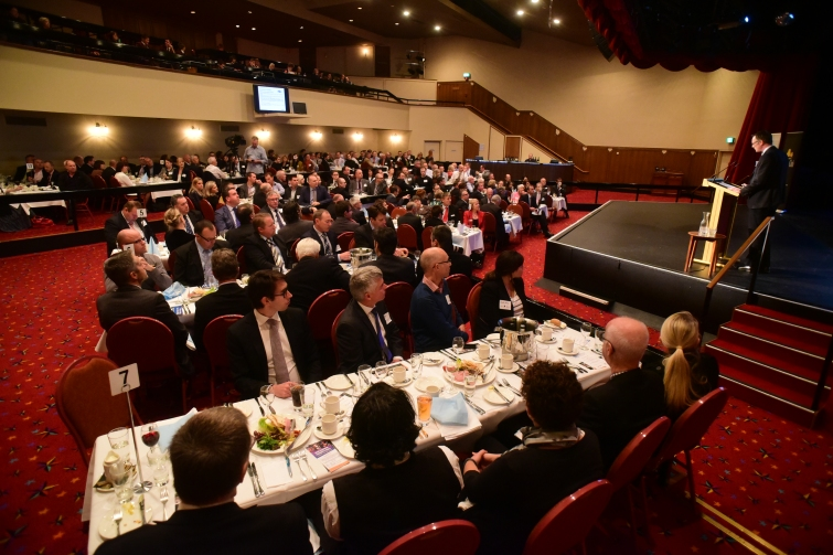 The crowd at the State Budget Luncheon at the Country Club Casino, Launceston. Photo courtesy of The Examiner. Picture: Oliver King.