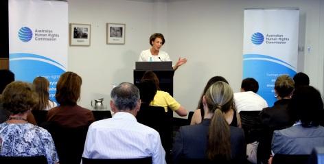 Senator the Hon. Michaelia Cash, Minister Assisting the Prime Minister for Women speaking at the 2014 International Women's Day.