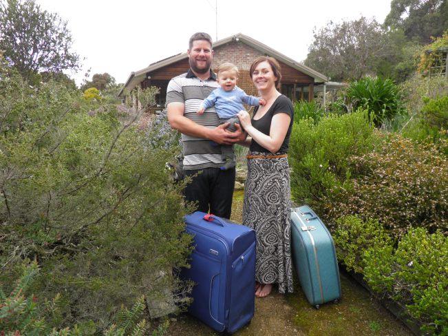 Josh and Ellen Breganti, with their 9 month old baby, Noah.