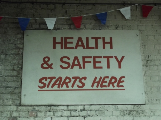 Acocks_Green_Bus_Garage_-_Open_Day_-_sign_-_Health_&_Safety_Starts_Here_(10100380894).jpg